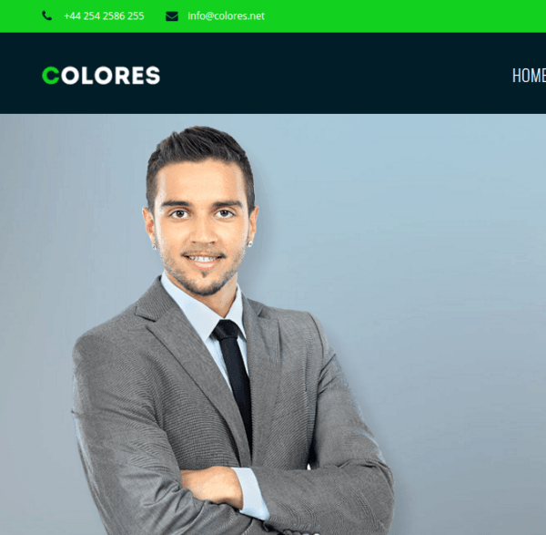 Colores homepage