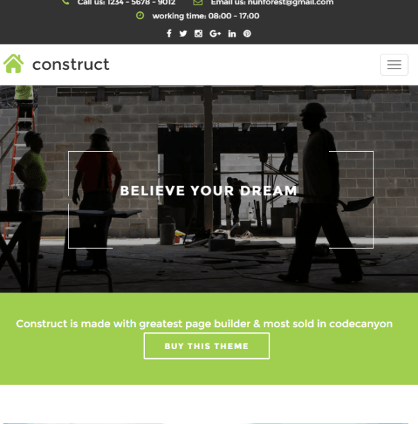 Construct – Responsive Business WordPress theme
