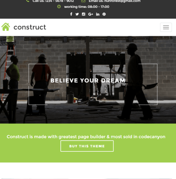 Construct - Responsive Business WordPress theme