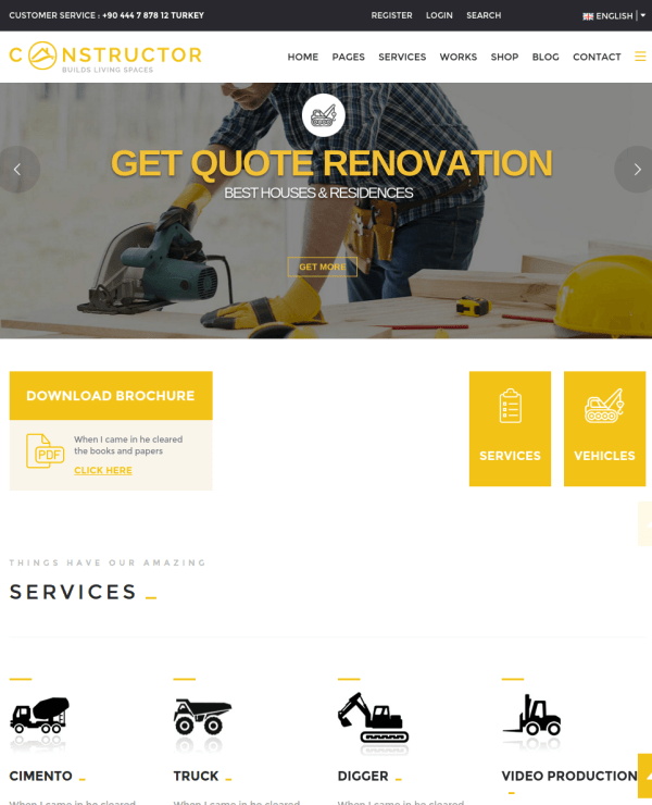 Constructor Homepage