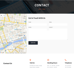 Contact Page – Infinity