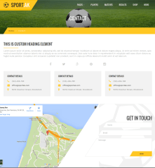 Contact Page – Sport