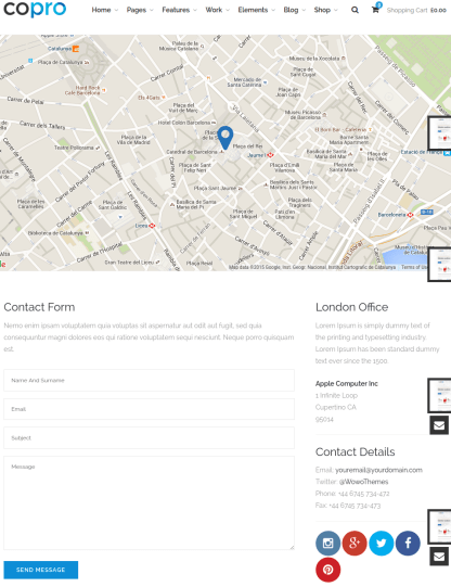 Contact Page of CoPro