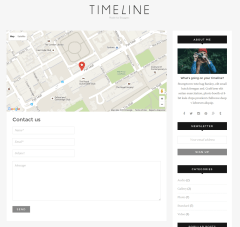 Contact Us Page – Timeline