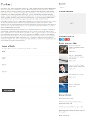 Contact page of Smart Magazine theme