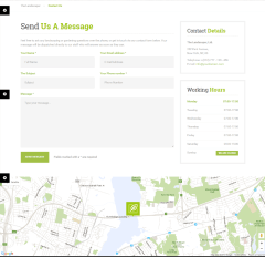 Contact us page of Landscaper theme