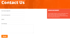 Contact us page of UnitedCommunity theme