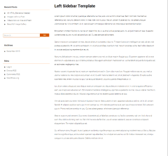 Corpus – page with left sidebar