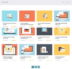 Courses of LearnPlus theme