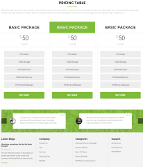 Element ( Pricing table) of Newshopping theme.