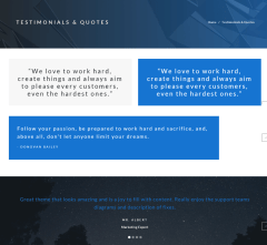 Elements ( Testimonials and Quotes) of Polygon theme.