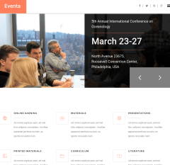 Homepage of Eventa theme