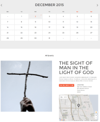 Events page of Credo theme