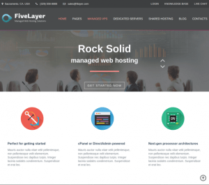 Fivelayer Homepage