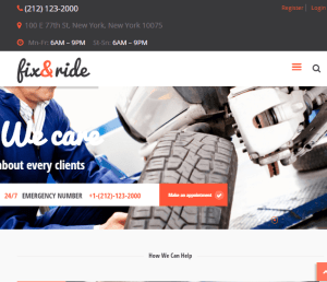 Fix and Ride - Automechanic and Car repair WordPress theme