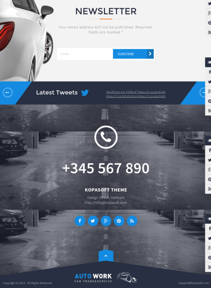 Footer of Autowork