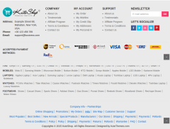 Footer of KuteShop