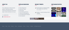 Footer widget area of Event mgmt