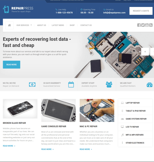 Frontpage - RepairPress