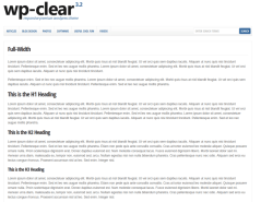 Full Width Page  WP-Clear