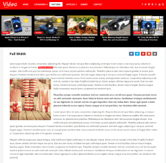 Full width page of Videonews theme