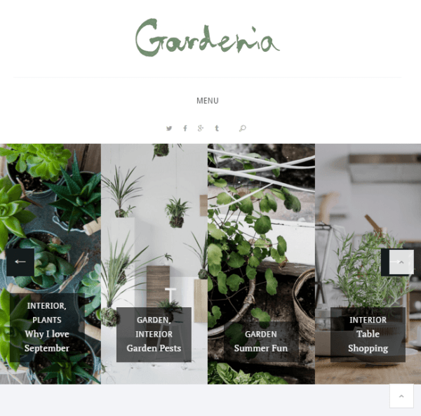 Gardenia – Responsive WordPress Personal Blog theme