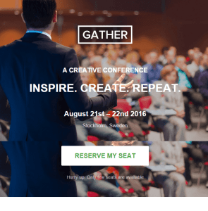 Gather - WordPress Landing theme for Event and Conferences png