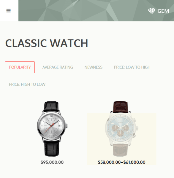 Gem – WooCommerce WordPress theme