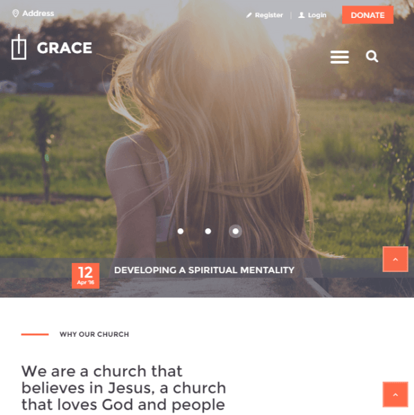 Grace – Church WordPress theme