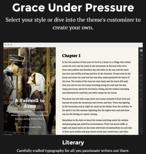 Grace Under Pressure - Blogging WP theme