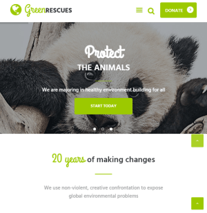 Green rescues - Environmental WordPress theme