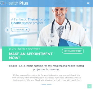 Health Plus - WordPress theme for health related WordPress theme