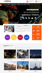 Homepage of Bizspeak theme