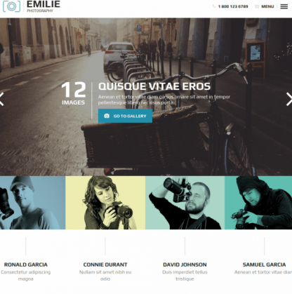 Homepage of Emilie