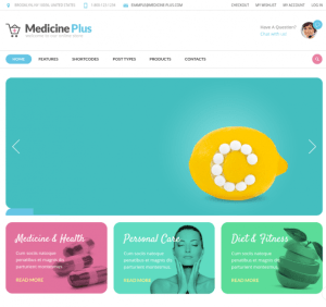 Homepage of Medicine Plus
