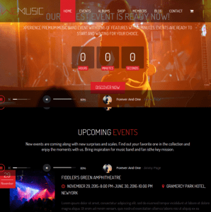 Homepage of WeMusic