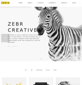 Homepage of Zebre