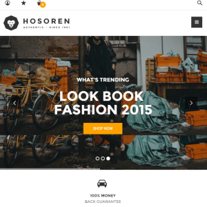 Hosoren - Clean and Elegant Responsive WooCommerce WordPress theme