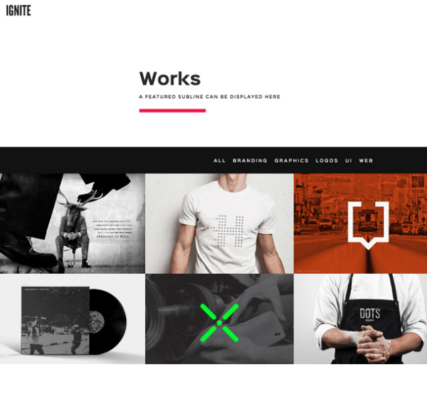 Ignite – one page creative Multipurpose WordPress theme