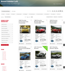 Inventory page of Automotive car dealership theme.