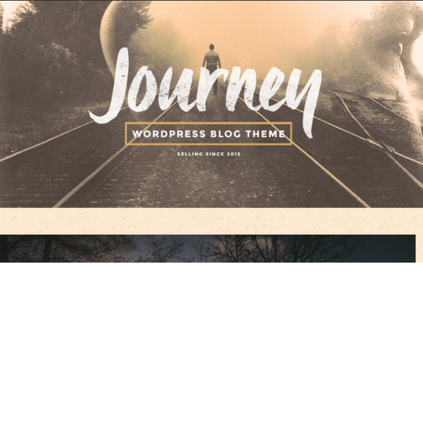 Journey – WordPress Blogging theme