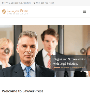 LawyerPress - Lawyer and Attorney WordPress theme