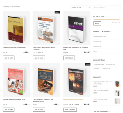 LawyerPress – shop page