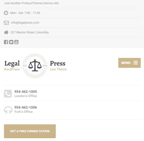 Legal Press – Law, Attorney WordPress theme