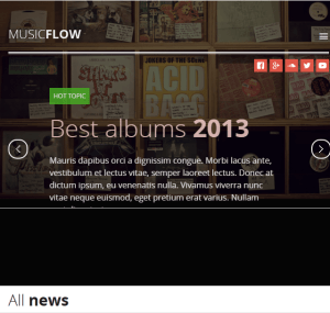 MUSIC FLOW - Music, Band Responsive WordPress theme