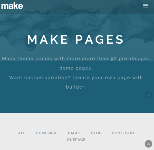 Make Theme – One page + multipage WordPress theme