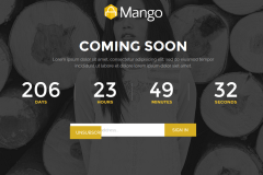 Mango Coming Soon Page