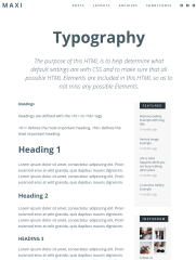 Maxi theme typography