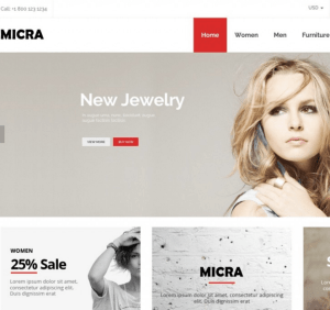 Micra - WooCommerce WordPress theme