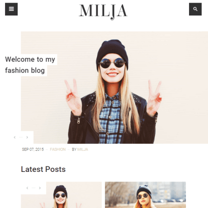 Milja - Blog WordPress theme